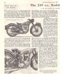 BSA - C11 250CC - 1951 - ROAD TEST - RT1